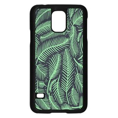 Coconut Leaves Summer Green Samsung Galaxy S5 Case (black) by Mariart