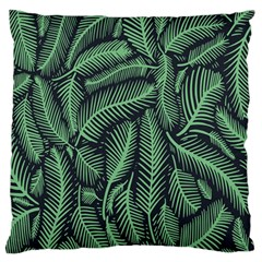 Coconut Leaves Summer Green Large Flano Cushion Case (two Sides) by Mariart