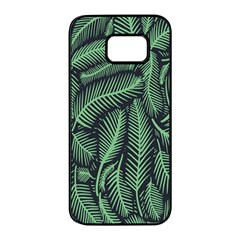 Coconut Leaves Summer Green Samsung Galaxy S7 Edge Black Seamless Case by Mariart