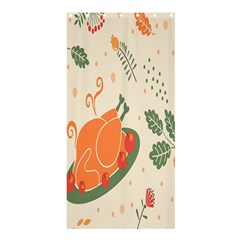 Happy Thanksgiving Chicken Bird Flower Floral Pumpkin Sunflower Shower Curtain 36  X 72  (stall)  by Mariart
