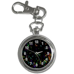 Colorful Music Notes Rainbow Key Chain Watches