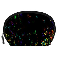 Colorful Music Notes Rainbow Accessory Pouches (large)  by Mariart