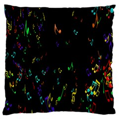 Colorful Music Notes Rainbow Large Flano Cushion Case (one Side)