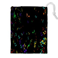 Colorful Music Notes Rainbow Drawstring Pouches (xxl) by Mariart