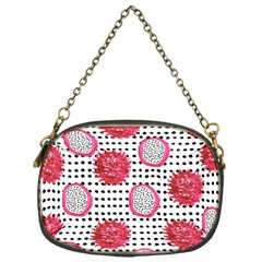 Fruit Patterns Bouffants Broken Hearts Dragon Polka Dots Red Black Chain Purses (one Side)  by Mariart
