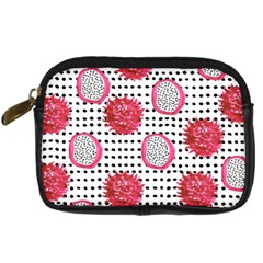 Fruit Patterns Bouffants Broken Hearts Dragon Polka Dots Red Black Digital Camera Cases by Mariart