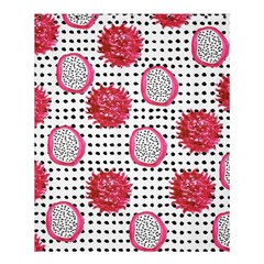 Fruit Patterns Bouffants Broken Hearts Dragon Polka Dots Red Black Shower Curtain 60  X 72  (medium)  by Mariart