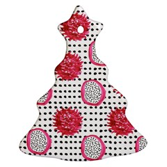 Fruit Patterns Bouffants Broken Hearts Dragon Polka Dots Red Black Christmas Tree Ornament (two Sides) by Mariart