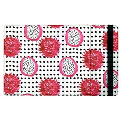 Fruit Patterns Bouffants Broken Hearts Dragon Polka Dots Red Black Apple Ipad 3/4 Flip Case by Mariart