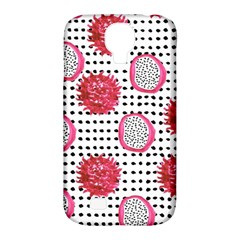 Fruit Patterns Bouffants Broken Hearts Dragon Polka Dots Red Black Samsung Galaxy S4 Classic Hardshell Case (pc+silicone) by Mariart