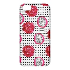 Fruit Patterns Bouffants Broken Hearts Dragon Polka Dots Red Black Apple Iphone 5c Hardshell Case by Mariart