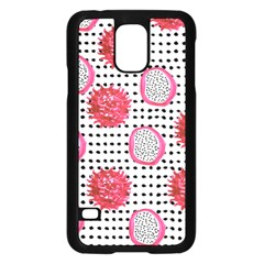 Fruit Patterns Bouffants Broken Hearts Dragon Polka Dots Red Black Samsung Galaxy S5 Case (black) by Mariart