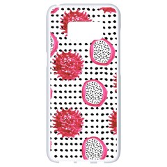 Fruit Patterns Bouffants Broken Hearts Dragon Polka Dots Red Black Samsung Galaxy S8 White Seamless Case by Mariart