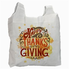 Happy Thanksgiving Sign Recycle Bag (one Side) by Mariart