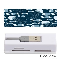Jellyfish Fish Cartoon Sea Seaworld Memory Card Reader (stick)  by Mariart