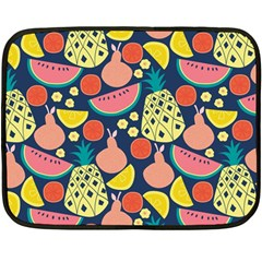 Fruit Pineapple Watermelon Orange Tomato Fruits Double Sided Fleece Blanket (mini)  by Mariart