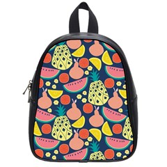 Fruit Pineapple Watermelon Orange Tomato Fruits School Bag (small)