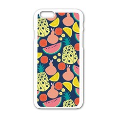 Fruit Pineapple Watermelon Orange Tomato Fruits Apple Iphone 6/6s White Enamel Case by Mariart