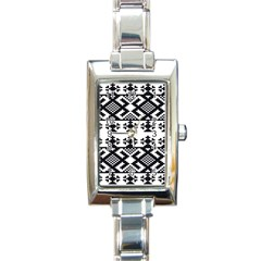 Model Traditional Draperie Line Black White Triangle Rectangle Italian Charm Watch