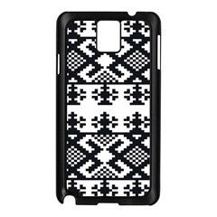 Model Traditional Draperie Line Black White Triangle Samsung Galaxy Note 3 N9005 Case (black) by Mariart