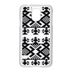 Model Traditional Draperie Line Black White Triangle Samsung Galaxy S5 Case (white) by Mariart