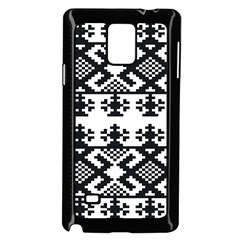 Model Traditional Draperie Line Black White Triangle Samsung Galaxy Note 4 Case (black) by Mariart