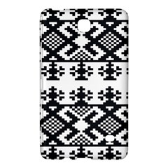 Model Traditional Draperie Line Black White Triangle Samsung Galaxy Tab 4 (8 ) Hardshell Case  by Mariart