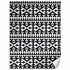 Model Traditional Draperie Line Black White Canvas 36  X 48   by Mariart
