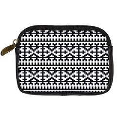 Model Traditional Draperie Line Black White Digital Camera Cases