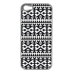 Model Traditional Draperie Line Black White Apple Iphone 5 Case (silver) by Mariart