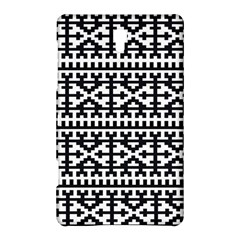 Model Traditional Draperie Line Black White Samsung Galaxy Tab S (8 4 ) Hardshell Case  by Mariart
