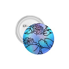 Lotus Flower Wall Purple Blue 1 75  Buttons