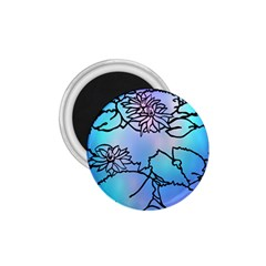 Lotus Flower Wall Purple Blue 1 75  Magnets by Mariart