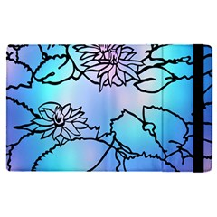 Lotus Flower Wall Purple Blue Apple Ipad Pro 9 7   Flip Case by Mariart