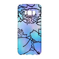Lotus Flower Wall Purple Blue Samsung Galaxy S8 Hardshell Case  by Mariart