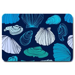 Mega Menu Seashells Large Doormat  by Mariart