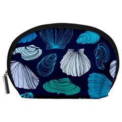 Mega Menu Seashells Accessory Pouches (large)  by Mariart