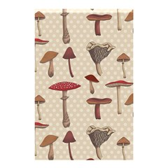 Mushroom Madness Red Grey Brown Polka Dots Shower Curtain 48  X 72  (small)
