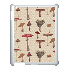 Mushroom Madness Red Grey Brown Polka Dots Apple Ipad 3/4 Case (white) by Mariart