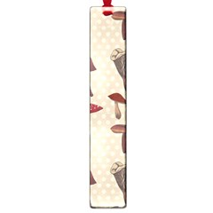 Mushroom Madness Red Grey Brown Polka Dots Large Book Marks by Mariart