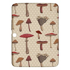 Mushroom Madness Red Grey Brown Polka Dots Samsung Galaxy Tab 3 (10 1 ) P5200 Hardshell Case  by Mariart