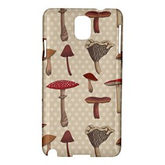 Mushroom Madness Red Grey Brown Polka Dots Samsung Galaxy Note 3 N9005 Hardshell Case by Mariart
