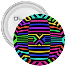Optical Illusion Line Wave Chevron Rainbow Colorfull 3  Buttons by Mariart