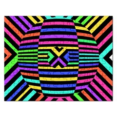 Optical Illusion Line Wave Chevron Rainbow Colorfull Rectangular Jigsaw Puzzl by Mariart