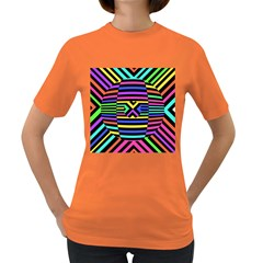 Optical Illusion Line Wave Chevron Rainbow Colorfull Women s Dark T Shirt by Mariart