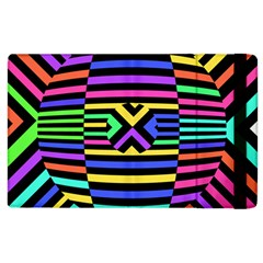 Optical Illusion Line Wave Chevron Rainbow Colorfull Apple Ipad 2 Flip Case by Mariart