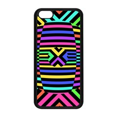 Optical Illusion Line Wave Chevron Rainbow Colorfull Apple Iphone 5c Seamless Case (black) by Mariart