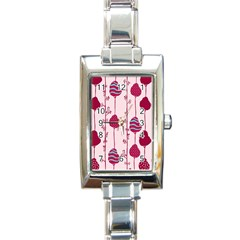 Original Tree Bird Leaf Flower Floral Pink Wave Chevron Blue Polka Dots Rectangle Italian Charm Watch