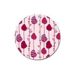 Original Tree Bird Leaf Flower Floral Pink Wave Chevron Blue Polka Dots Magnet 3  (round) by Mariart
