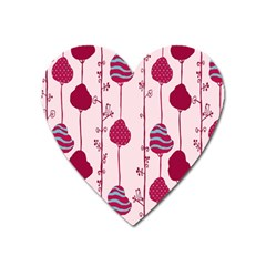 Original Tree Bird Leaf Flower Floral Pink Wave Chevron Blue Polka Dots Heart Magnet by Mariart